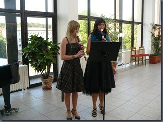 Koncert k 15. výročí Velkého flétnového souboru - Michaela kazdová a Kateřina Ženíšková